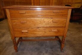 Honey oak chest of draws.