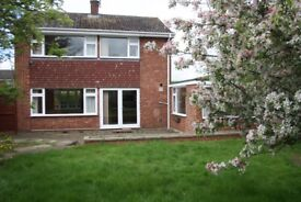 3 Bed Detached with Garage in Manthorpe, desirable area near Belton House, big private garden,