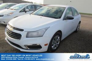 2016 Chevrolet Cruze LS ONE OWNER! POWER PACKAGE! CERTIFIED!
