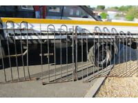 Metal railings about 25 feet cut up into sections with gate needs welding to make up your needs