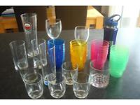 Bundle of Various Drinking Glasses inc Kids Set of Plastic Drinking Cups