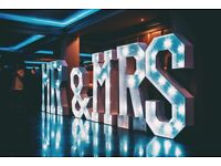 LED MR&MRS LETTERS for hire / Led Dance Floors / Photo Booths + more / Essex & London