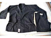 Karate Kyokushin Suit Black for Adult 180-190cm White Belt included No club logo