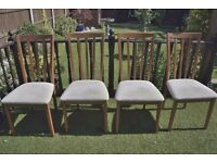 Four dining room chairs. £20. Hockley.