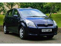 Toyota Corolla Verso 1.8L 7-seater. Spacious, reliable, much-loved family runabout.