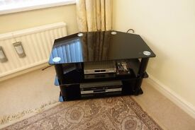 Glass 3 tier tv stand