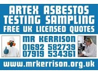 Mr.Kerrisons. UKs most competitive low cost ARTEX ASBESTOS TESTING. Why pay more.