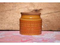 Hornsea Saffron Tea Barrel retro vintage