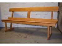 Oak Church Pew (DELIVERY AVAILABLE)