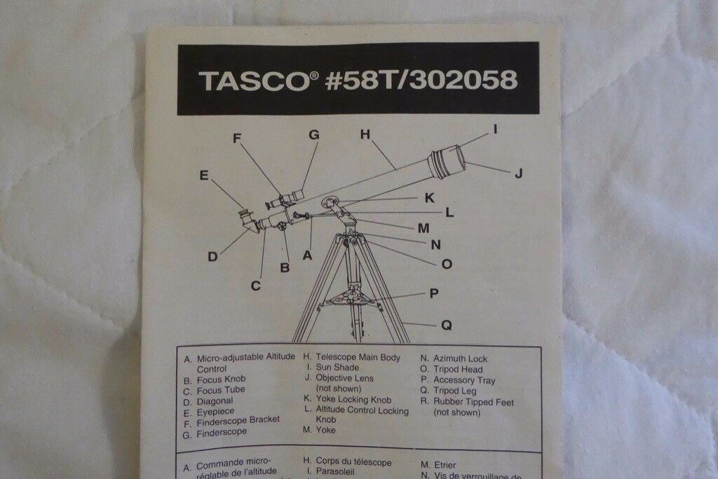 Astronomical telescope tasco t in stirling gumtree