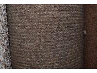 100% Wool Berber Carpet Brown 6.4m x 4m (187)