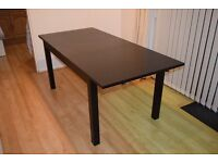 Table & 6 Chairs BJURSTA/BORJE (Brown-Black/White) - VERY GOOD CONDITION