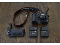 Canon 5D Mark II, Canon 50mm lens, 2 batteries & 2 battery chargers, battery grip BG-EG