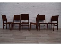 Six Teak Dyrlund Dining Chairs (DELIVERY AVAILABLE)