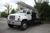 2000 GMC Topkick Sign truck with 85ft Phoenix Ladder Crane,Mille