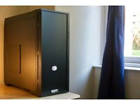 GAMING PC: INTEL Core i5-760/GTX670/500GB HDD/8GB RAM/Water Cooling in CoolerMaster 652S Case