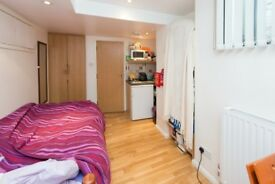 A single studio apartment located in the heart of Chalk Farm
