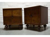 British Colonial style bedside tables (DELIVERY AVAILABLE)