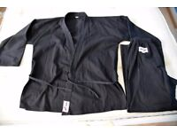 Karate Kyokushin Suit Black for Adult 180-190cm White Belt included No club logo