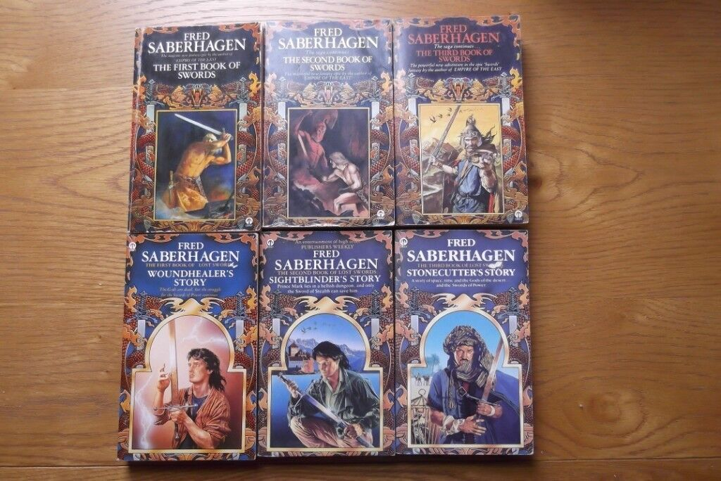 6 Fred Saberhagen Fantasy Novels The Book Of Swords And The
