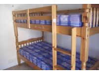 bunk bed with matresses for sale