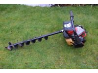 kawasaki td 40 heavy duty earth auger