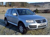VW Touareg 2.5 TDi Sport. Full service history. MOT Sept 2017. Spare set of wheels & winter tyres