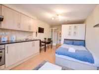 HUGE STUDIO FLAT~ALL BILLS INCLUDE~FULLY FURNISHED AND EQUIPPED~ HD TELEVISION~AMAZING VIEW~AVAI.NOW
