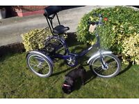 """Pashley Picador Tricycle.15"""" Frame.3 Speed Sturmey Archer. Very Good Condition.(13.2)"""