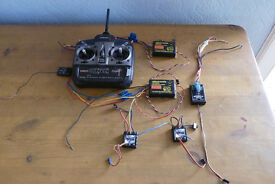 Tamco 6 channel 2.4 GHz transmitter & receiver plus 5 speed controllers