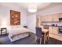 HUGE STUDIO FLAT~ALL BILLS INCLUDE~FULLY FURNISHED AND EQUIPPED~ HD TELEVISION~price dropped~ava.now