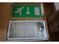 3 Dextra LED exit sign light box - NEW!