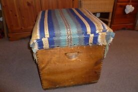 Rustic Antique Pine storage box/trunk/seat
