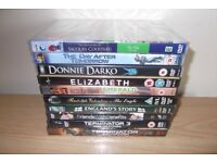 10 DVD,S Including Donnie Darko, Elizabeth And Friends With Benefits