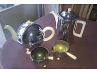 Insulated teapot and coffee pot, with sugar bowl & milk jug