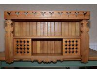 Country Kitchen Ornate Ash wall unit £75