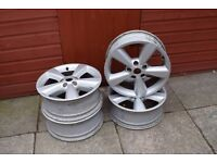 genuine nissan qashqai alloy wheels 4 off