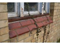 Reclaimed Window Sill Bricks - 223mm x 120mm x 75mm - Red Brick