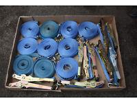 5 tonne 100x 8.5 meters ratchet strap sets/ all taged /lightly used/ 10 SETS (1 set = 10 straps)