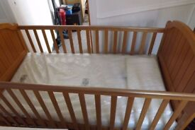 cot bed with new mattress free local delivery