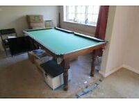"House clearance one owner from new slate bed snooker table 45"" WIDE 87 "" LONG VERY HEAVY"