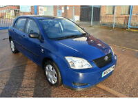 2004 TOYOTA COROLLA 1.4 VVTI 5 DOOR ** 1 LADY OWNER** **FSH** **HPI CLEAR**