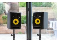 KRK Rokit 6 G2 Monitor Speakers PAIR with Stands & Cables - Near New