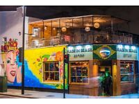 Busy Brazilian Restaurant & Cocktail Bar is looking for an experienced cocktail bartender