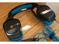 Logitech G430 - Black and Blue Headset - Barerly used.