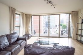 Spacious 2 Bed 2 Bath Apartment in Canary Wharf, West India Quay, E14, Concierge, Balcony- VZ