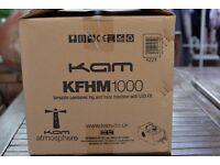 Kam KFHM1000 Haze Fog Smoke Fazer Faze Hazer machine with LED FX DISCO DJ Stage Theatre Light Effect