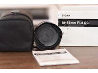 Sigma 18-35mm F/1.8 HSM DC Zoom Lens DX Nikon Mount