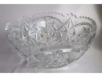 Large vintage lead crystal bowl