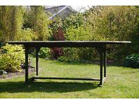 Billy Ho hard wood extending garden table.
